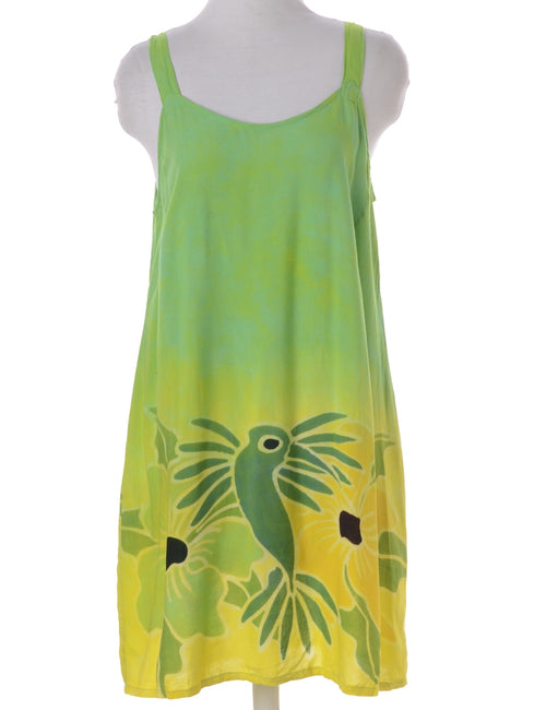 Summer Dress Green With A Round Neck