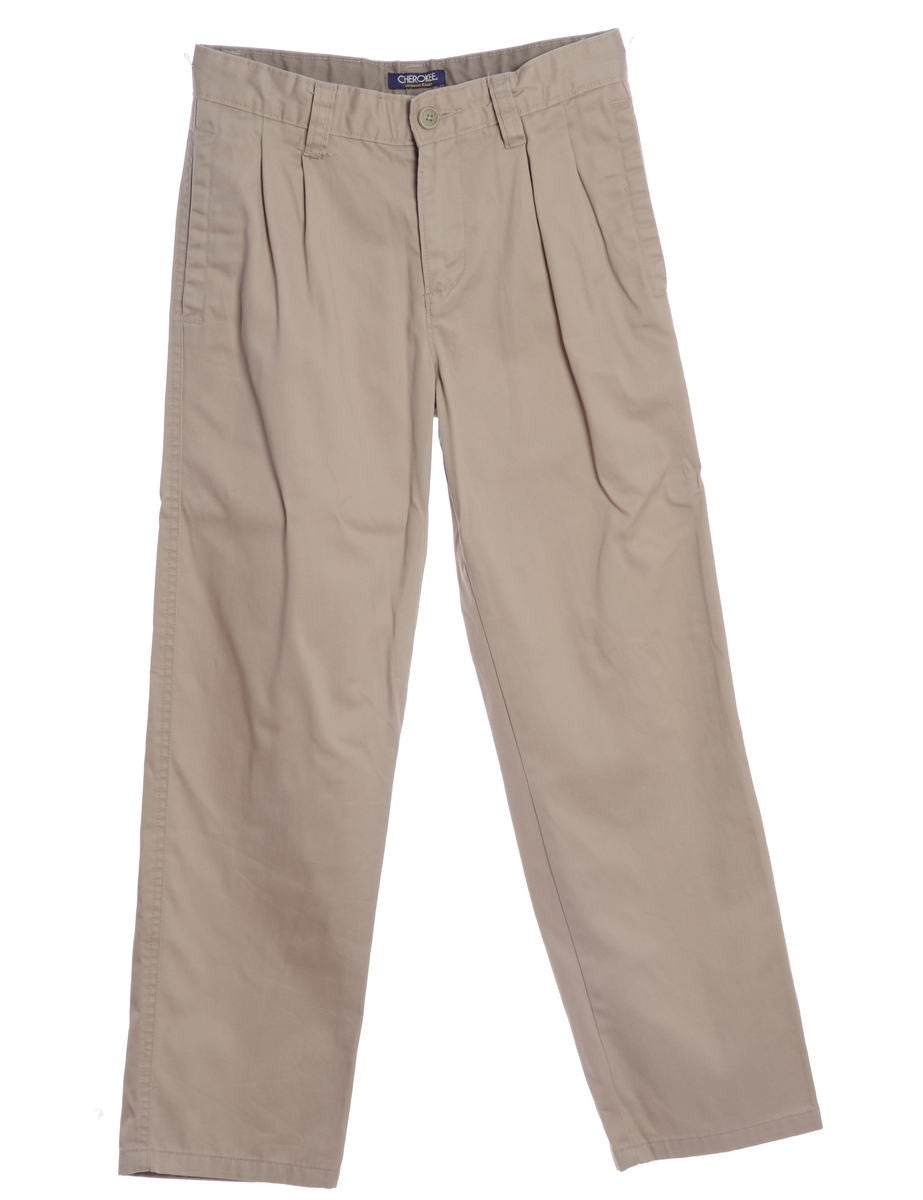 Casual Trousers Beige With Multiple Pockets
