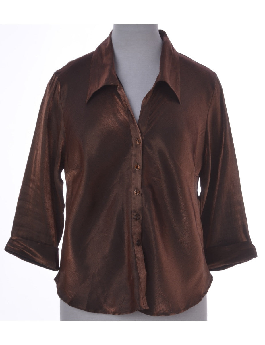 Party Top Brown