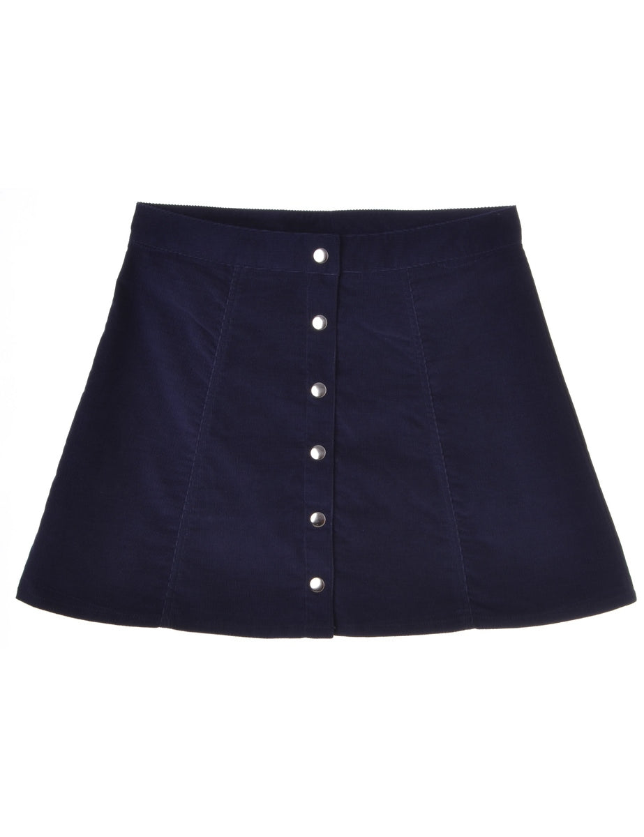 Purple A-line Skirt