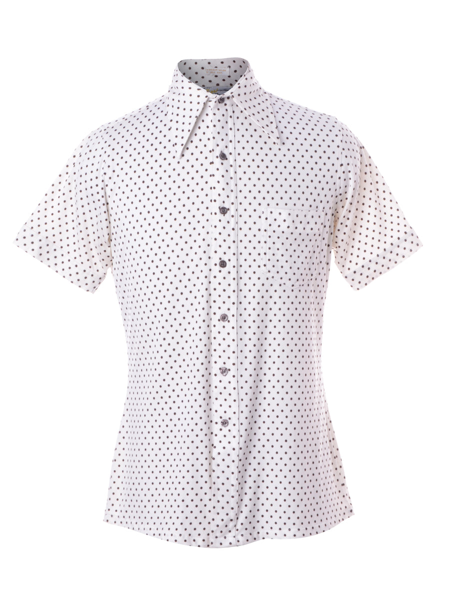 Beyond Retro Label 1970s Polka Dot Shirt