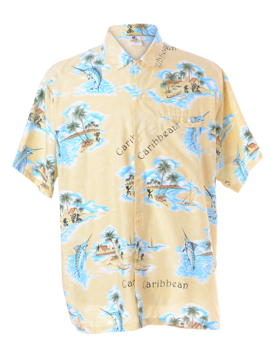 Beyond Retro Label Animal Print Hawaiian Shirt