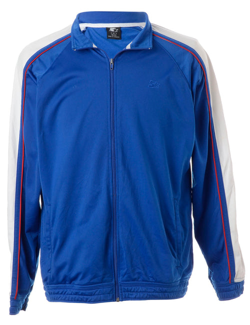Blue Zip Front Track Jacket