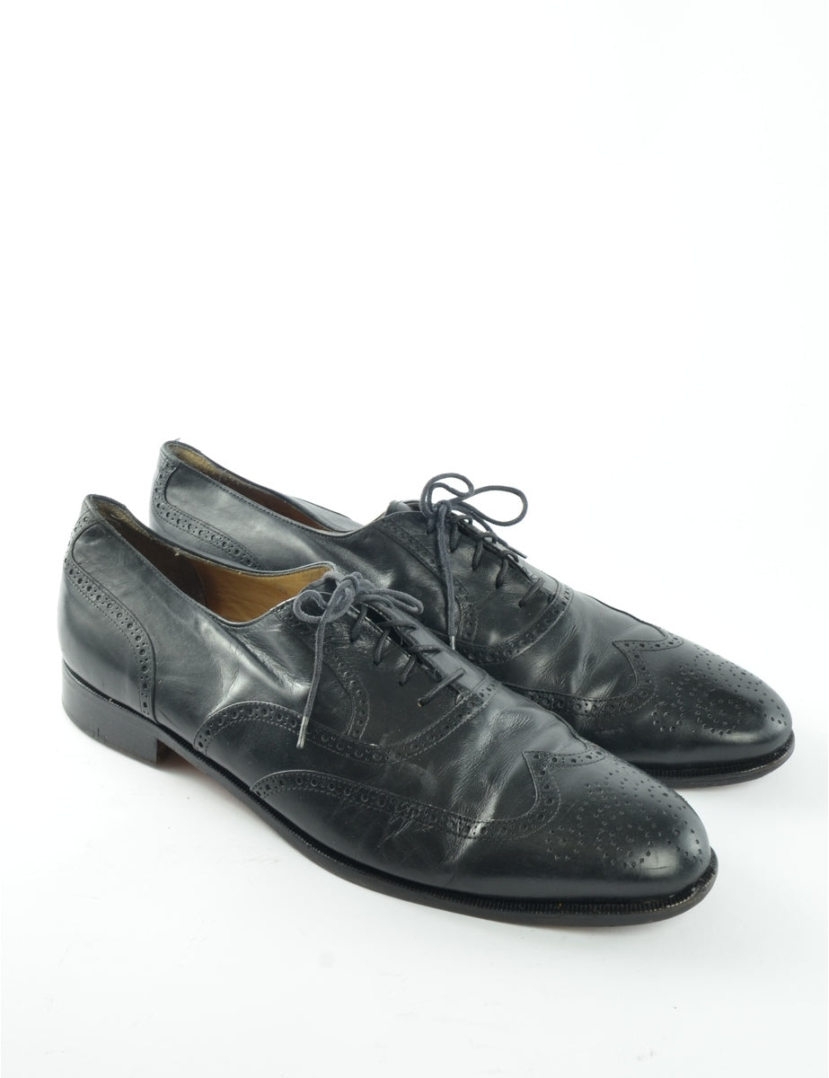 Beyond Retro Label Brogue Leather Smart Shoes