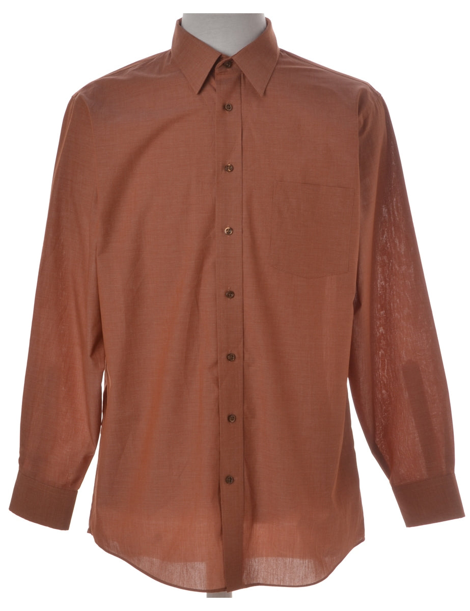 Beyond Retro Label Brown Casual Shirt