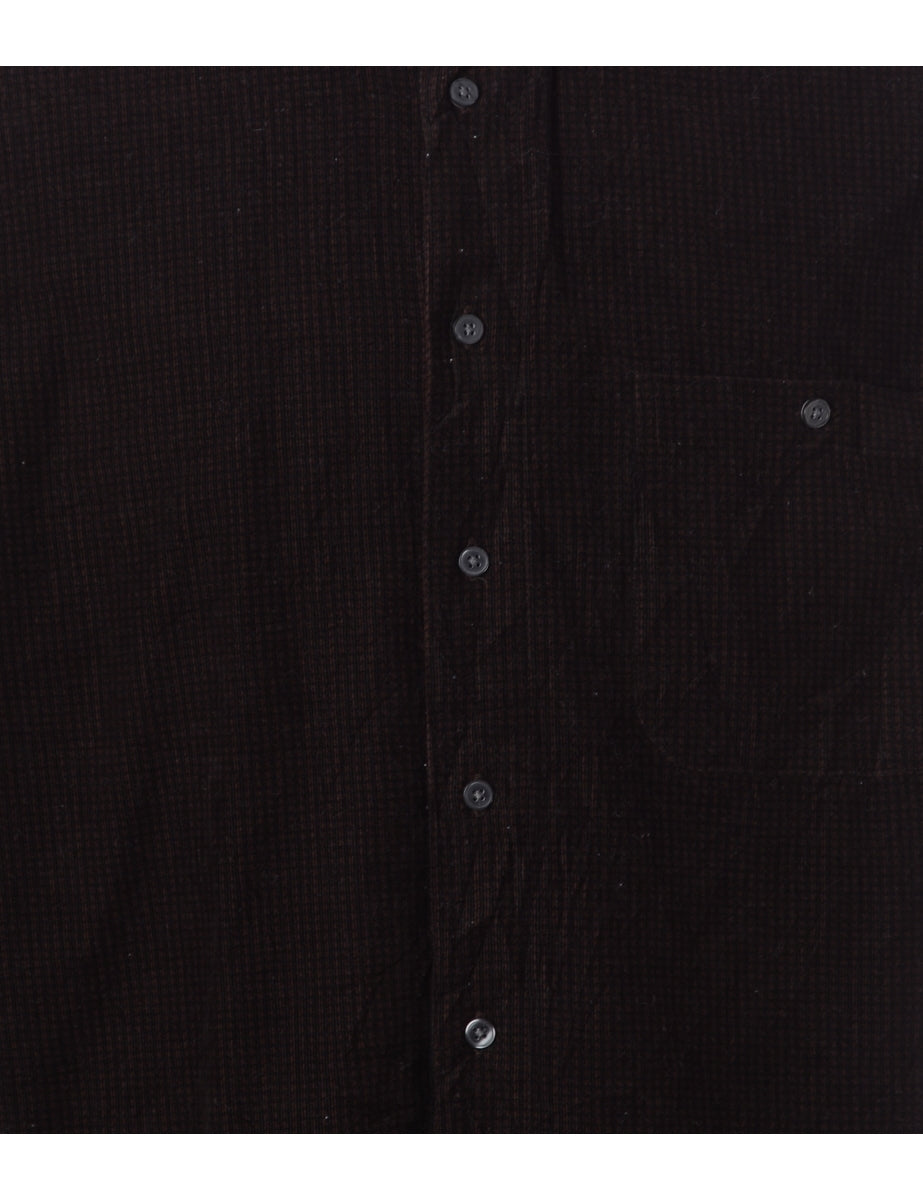 Beyond Retro Label Brown Checked Shirt