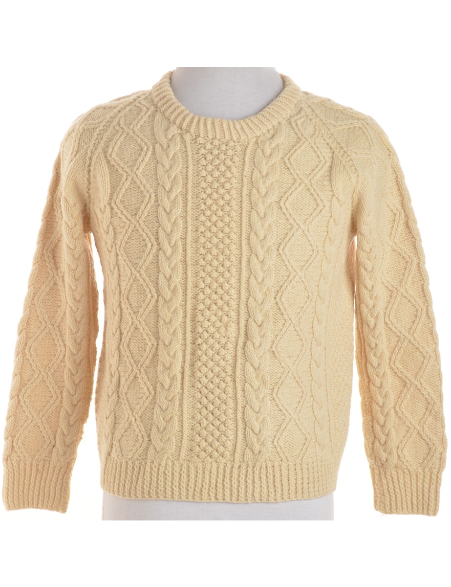 Beyond Retro Label Cable Knit Jumper