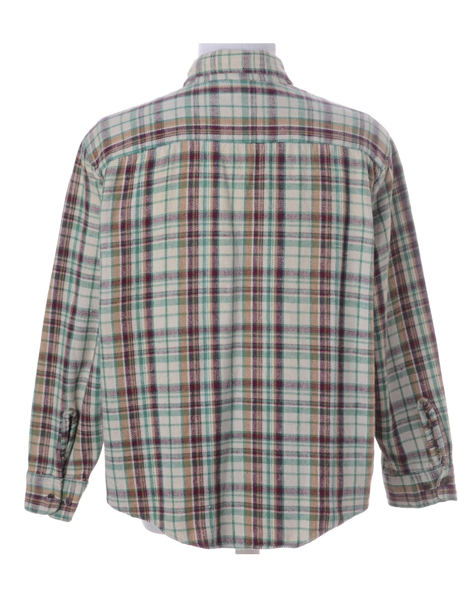 Beyond Retro Label Cream Checked Shirt