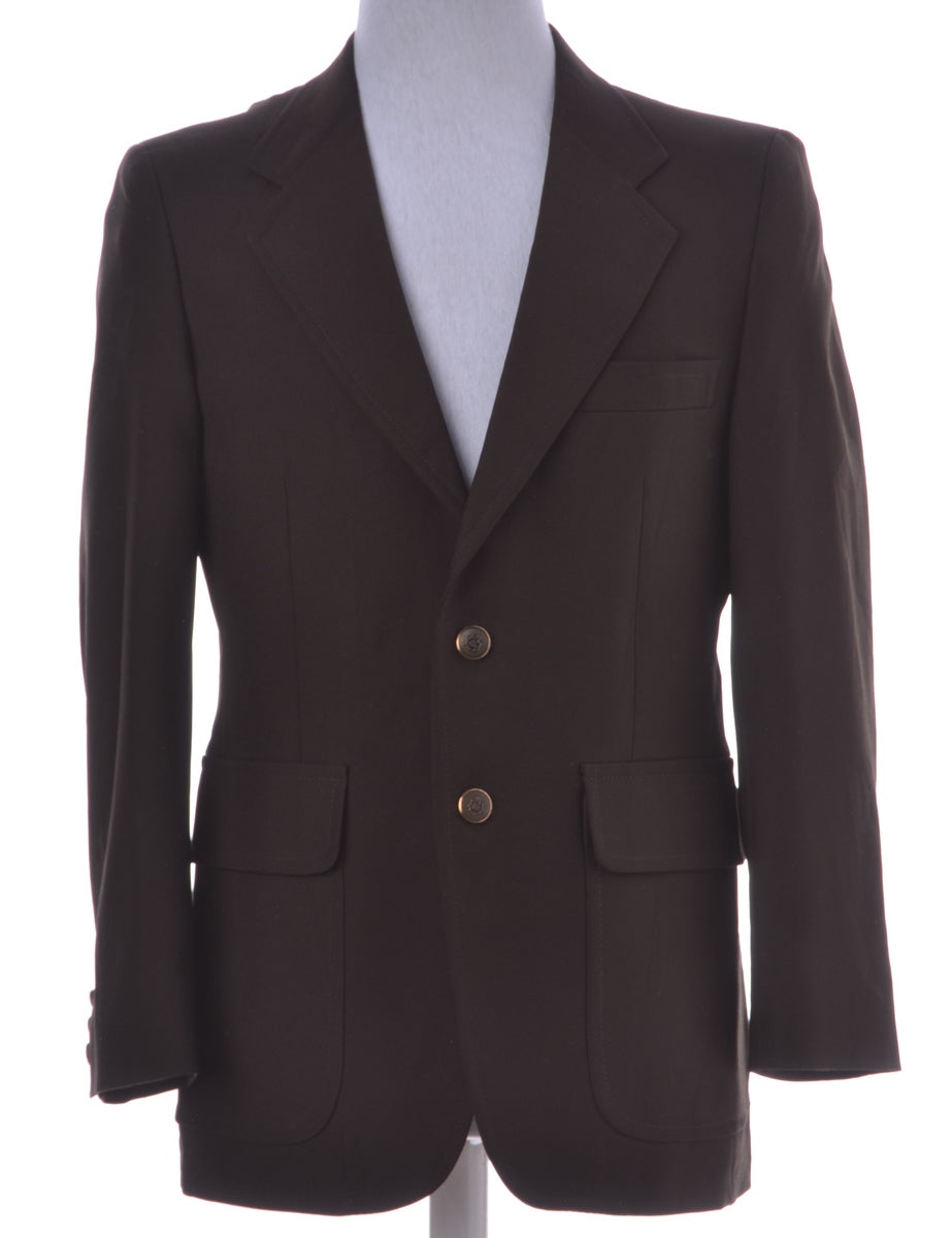 Beyond Retro Label Dark Brown Blazer