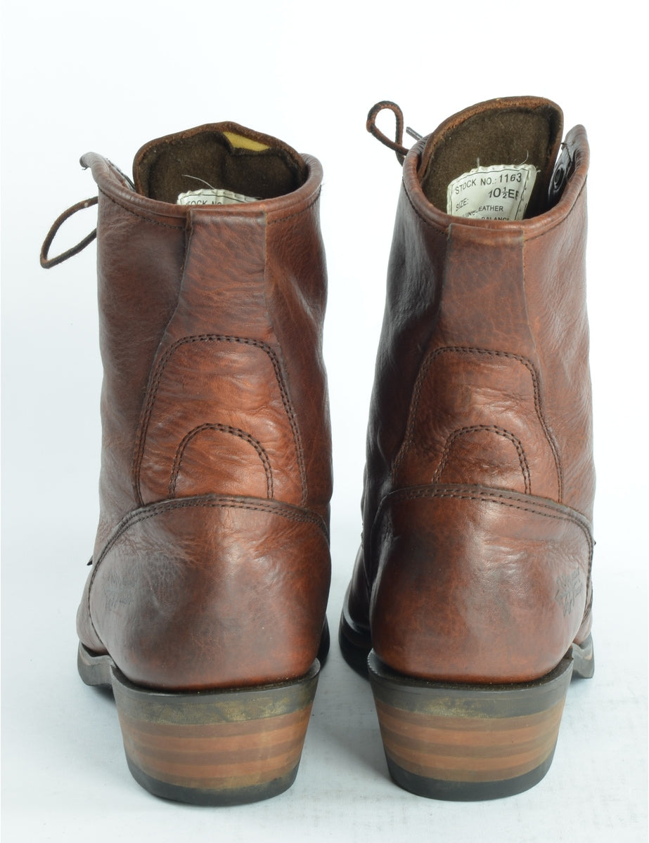 Men's Genuine Leather Boots Brown, XS
