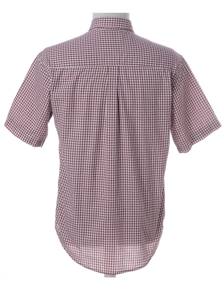 Beyond Retro Label Gingham Pattern Checked Shirt