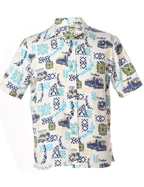 Novelty Print Short Sleeved Shirt