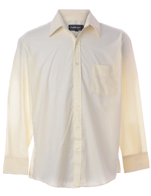 Pale Yellow Casual Shirt