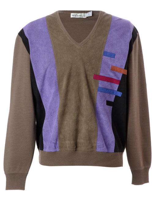 Patchwork Applique Knit Jumper