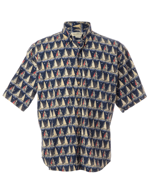 Patterned Short Sleeved Shirt