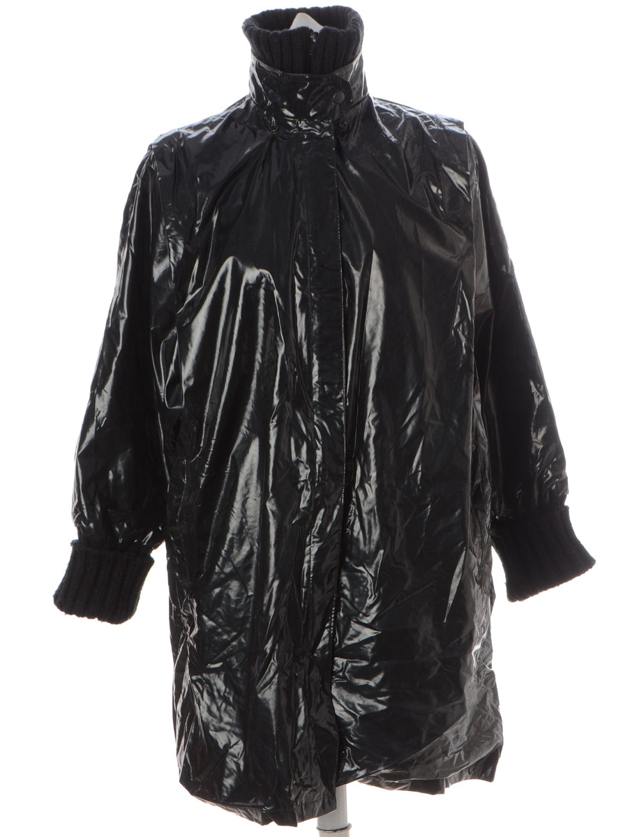 Beyond Retro Label Pvc Raincoat