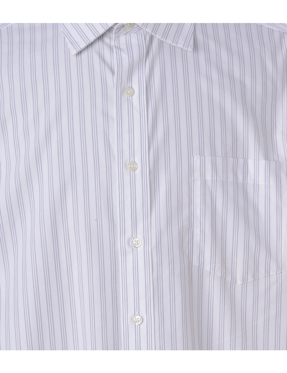 Beyond Retro Label Striped Casual Shirt