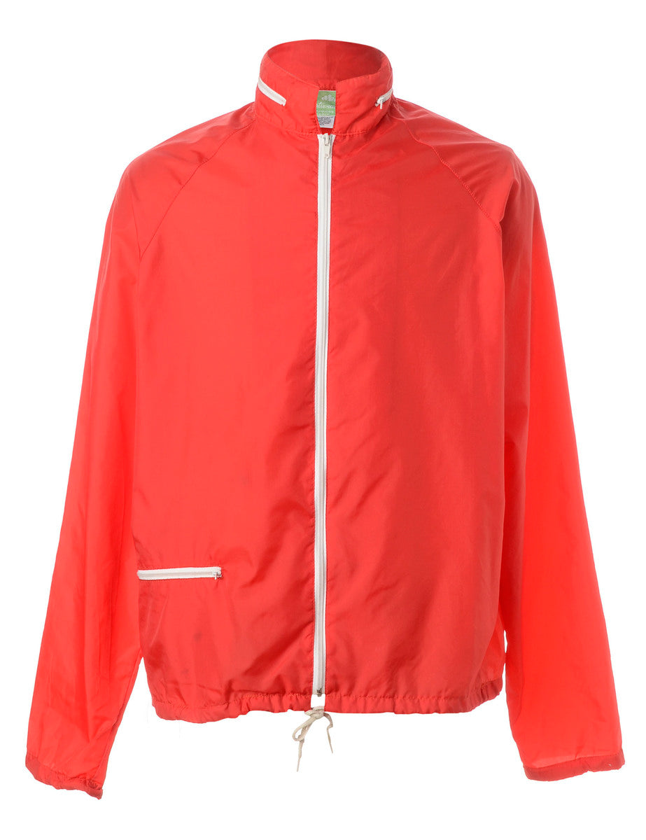 Beyond Retro Label Zip Front Windbreaker