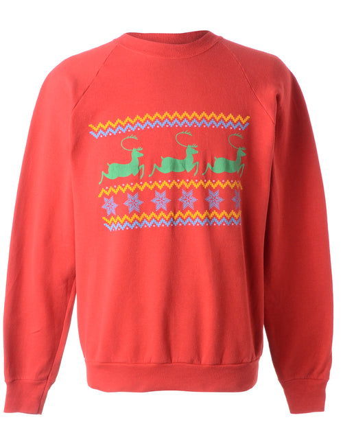 Animal Design Christmas Sweatshirt
