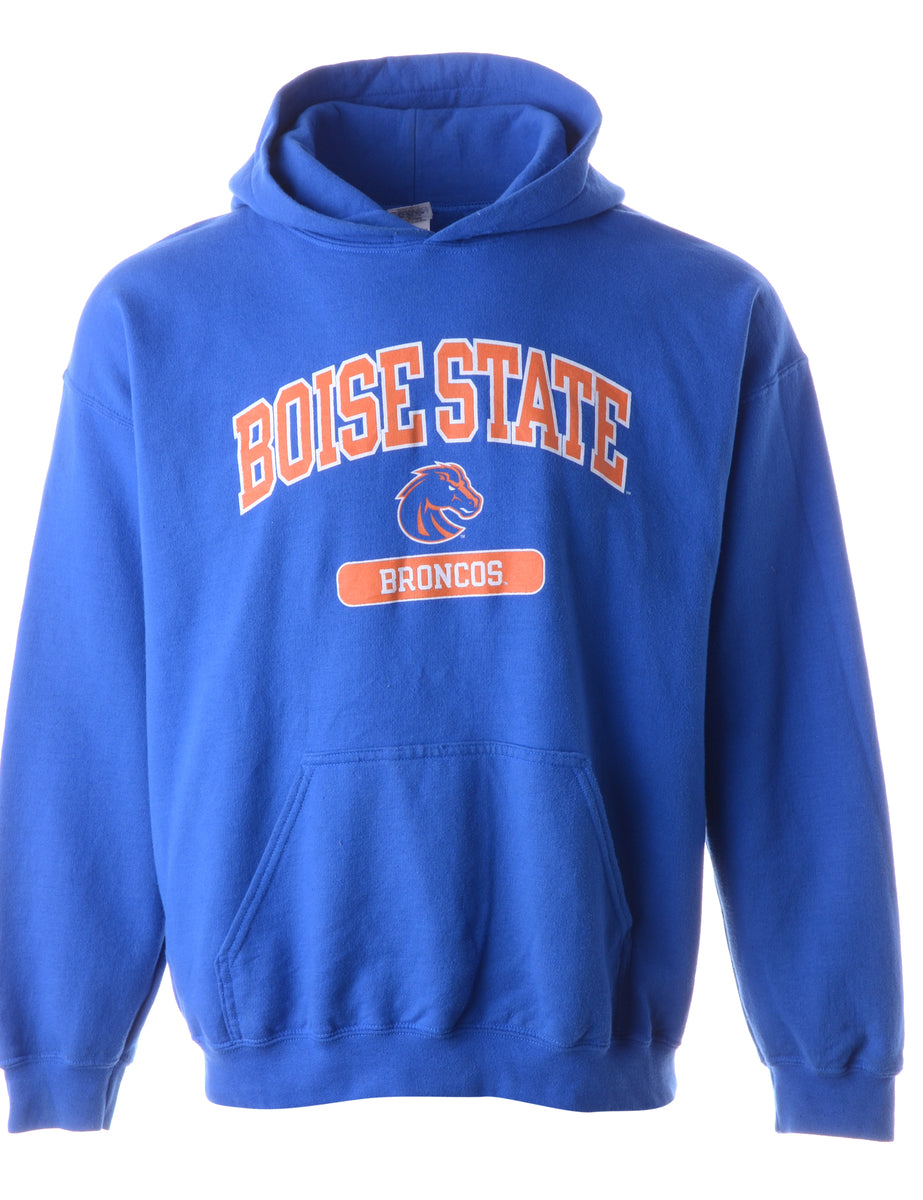 Beyond Retro Label Boise State Hooded Sports Sweatshirt