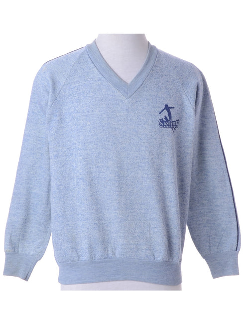 Light Blue Plain Sweatshirt