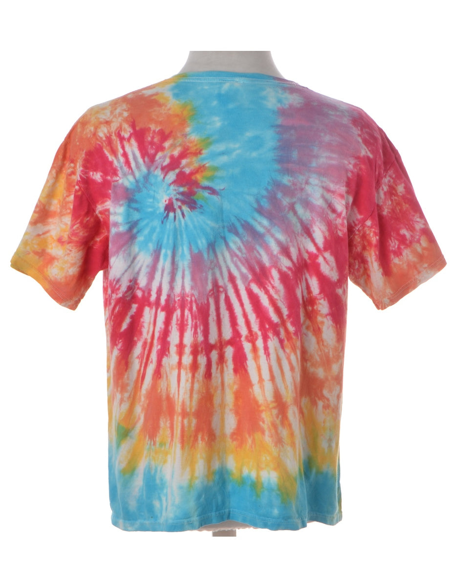 Beyond Retro Label Tie Dyed Printed T-shirt