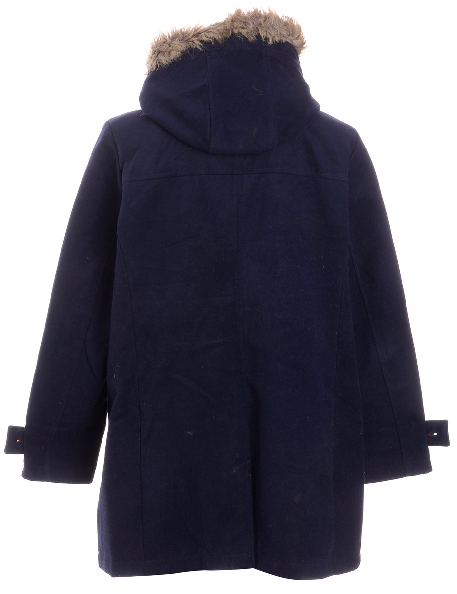 Beyond Retro Label 70s Hooded Duffle Coat