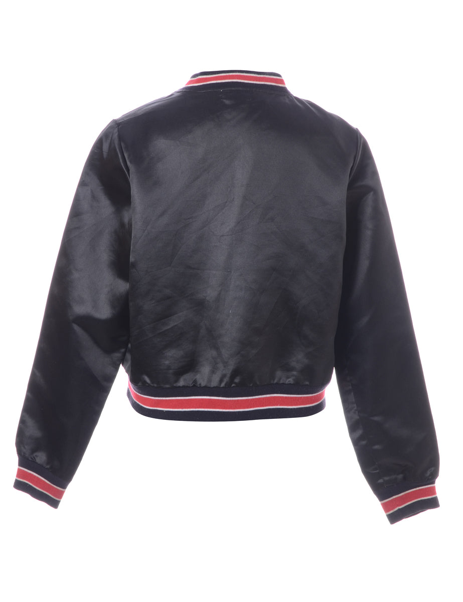 Beyond Retro Label Black Bomber Jacket