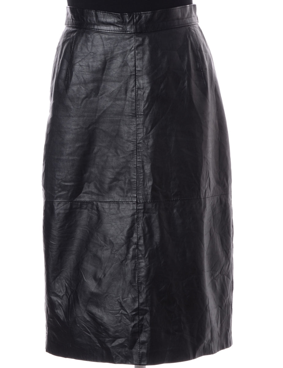 Beyond Retro Label Black Midi Skirt