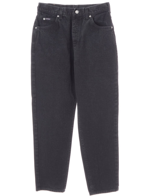 Black Tapered Jeans