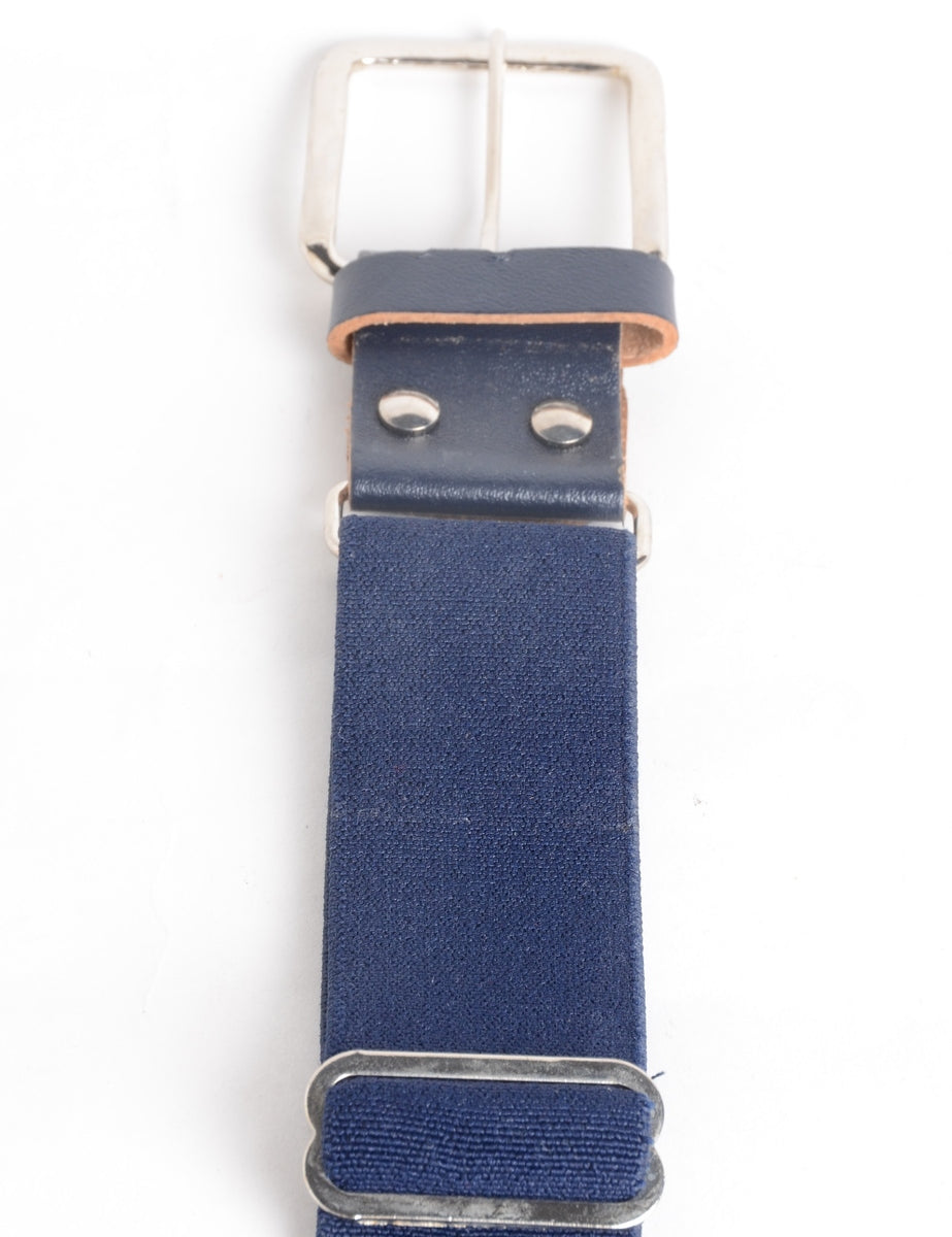 Beyond Retro Label Blue Waist Belt