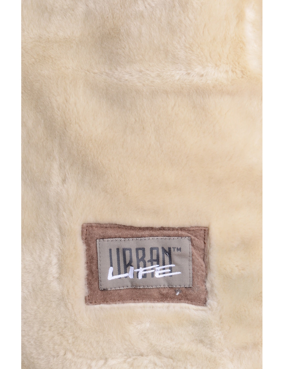 Beyond Retro Label Brown Faux Shearling Jacket