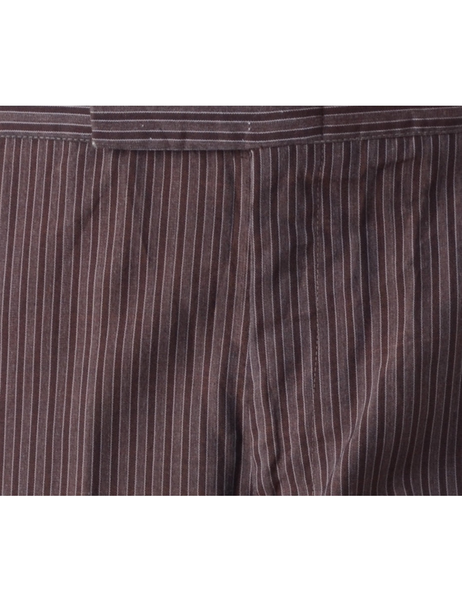 Brown Smart Trousers - Trousers - Beyond Retro