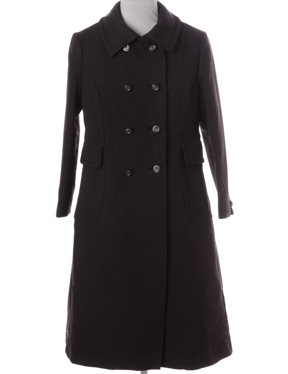 Beyond Retro Label Brown Wool Coat