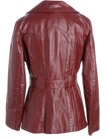 4f9796bee Button Front Leather Jacket