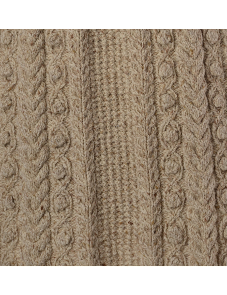 Beyond Retro Label Cable Knit Cardigan