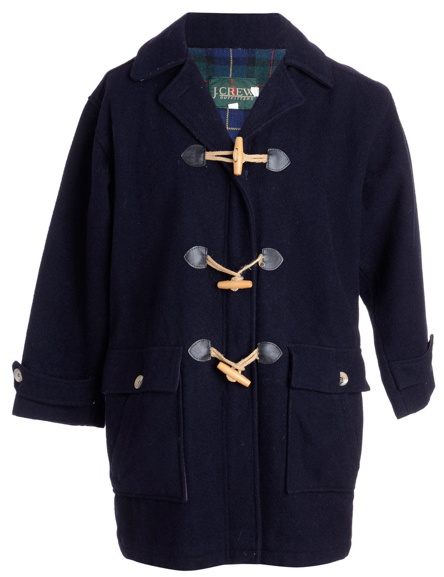 Check lined Duffle Coat