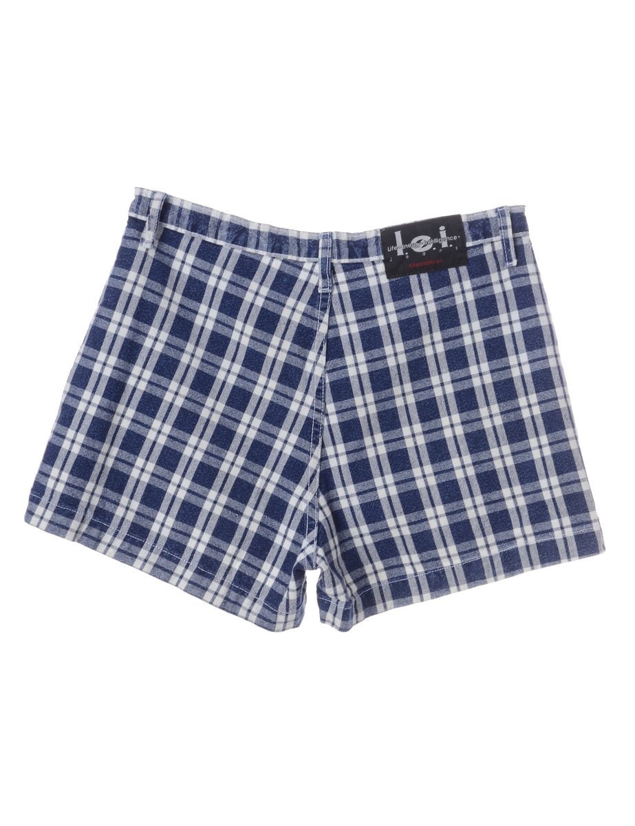Beyond Retro Label Checked Casual Shorts
