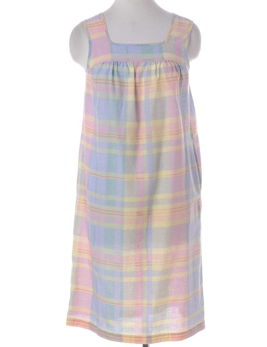 Beyond Retro Label Checked Pattern Dress