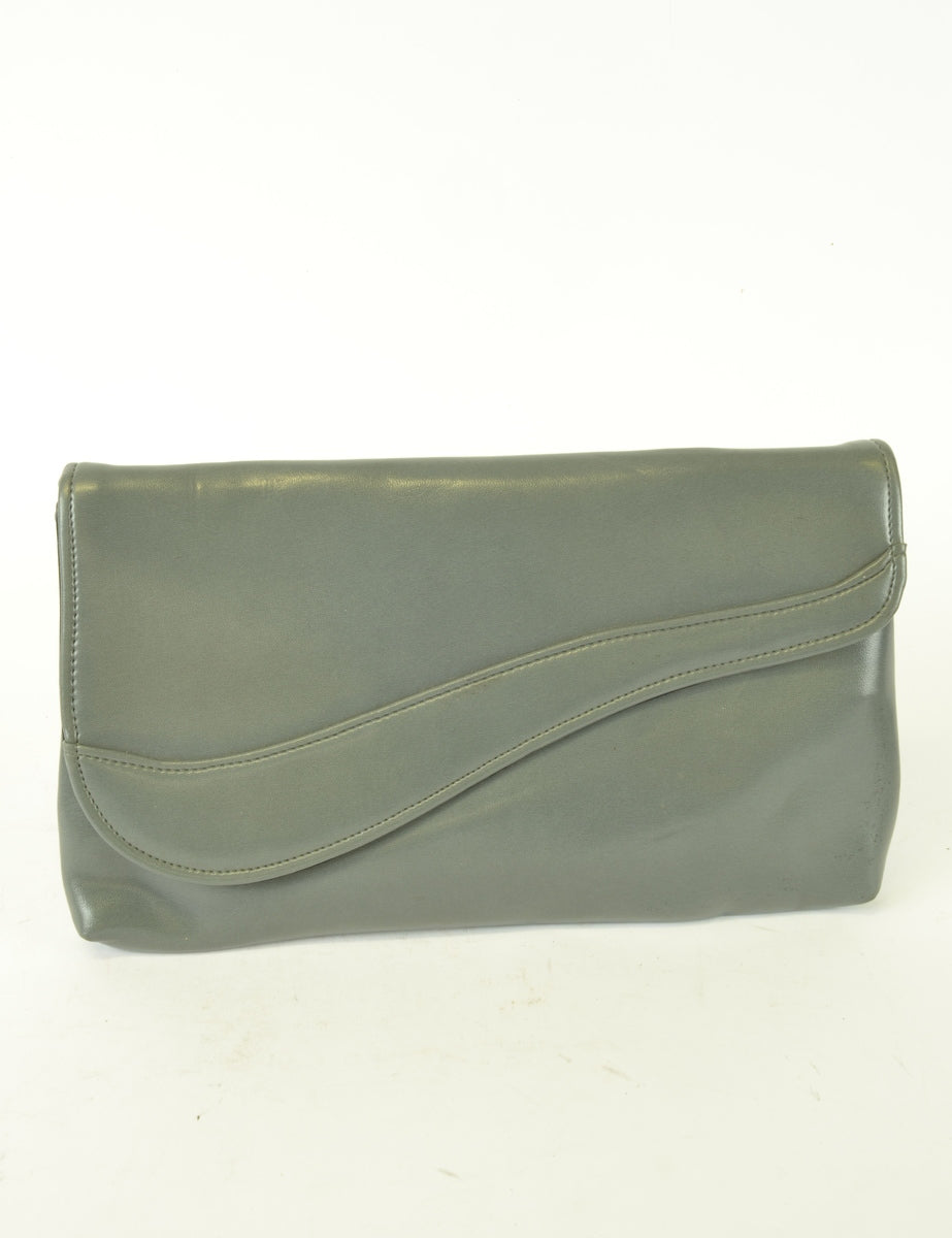 Beyond Retro Label Classic Oversized Vintage Clutch