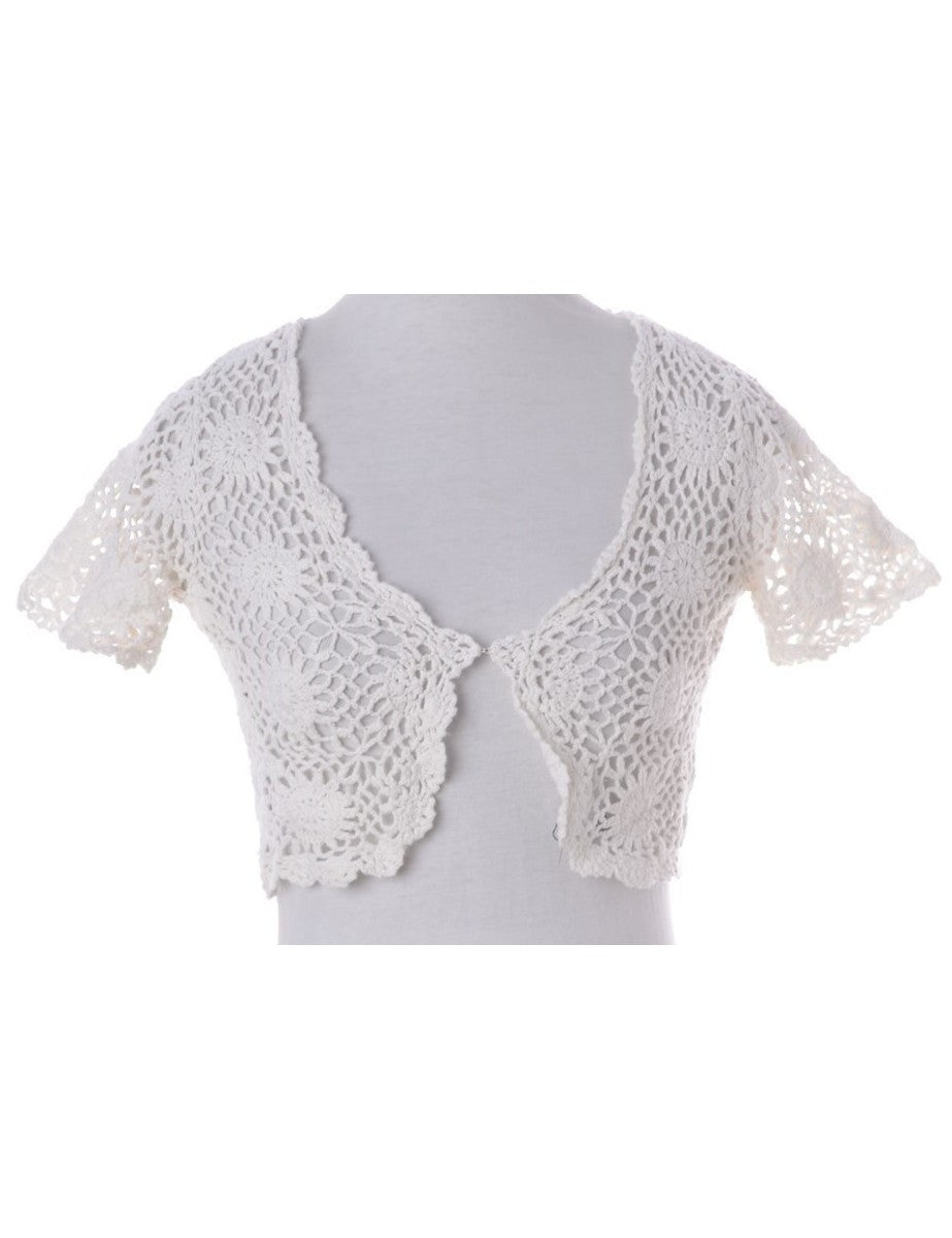 Beyond Retro Label Crochet Casual Jacket