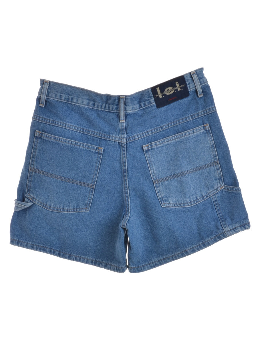 Beyond Retro Label Cropped Denim Shorts