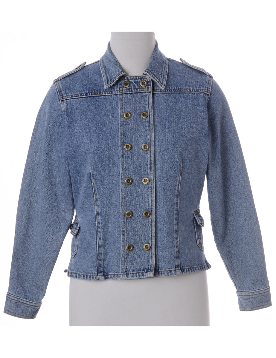 Beyond Retro Label Double Breasted Denim Jacket