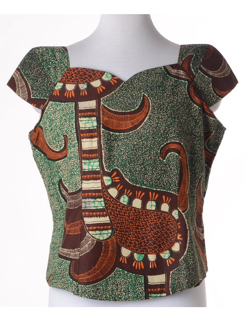 Ethnic Print Casual Top