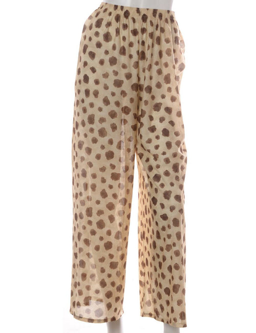 Flared Leg Summer Trousers