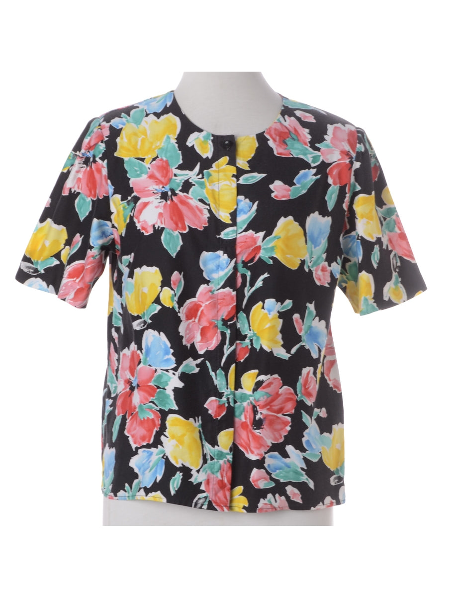 Beyond Retro Label Floral Blouse