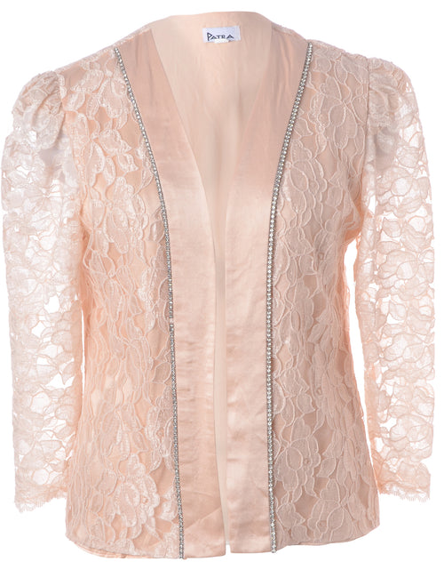 Floral Lace Evening Jacket