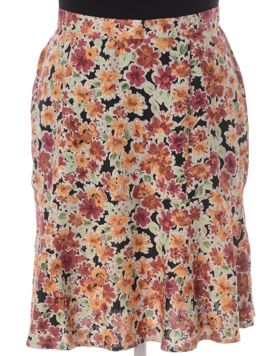 Beyond Retro Label Floral Mini Skirt