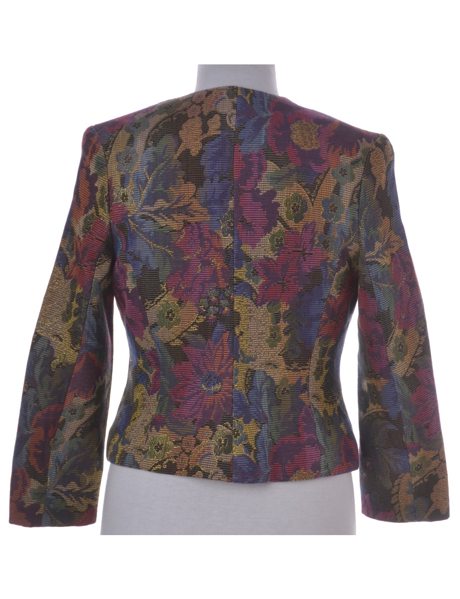 Beyond Retro Label Floral Print Casual Jacket