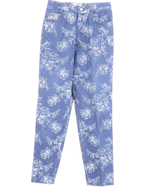 Floral Tapered Jeans
